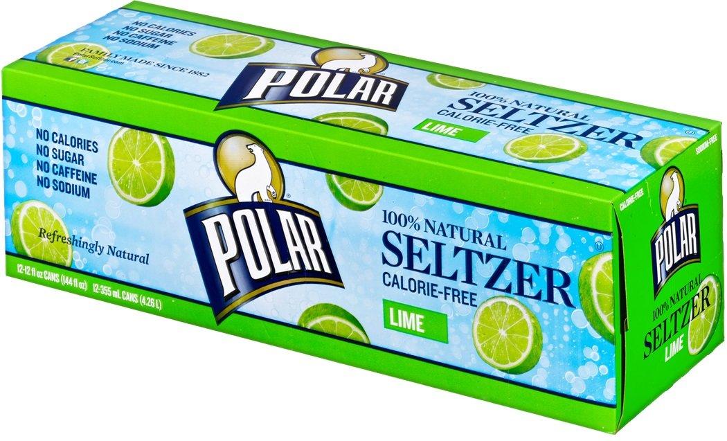 Polar Seltzer Lime, 12 fl oz (Pack of 12) by Polar Beverages