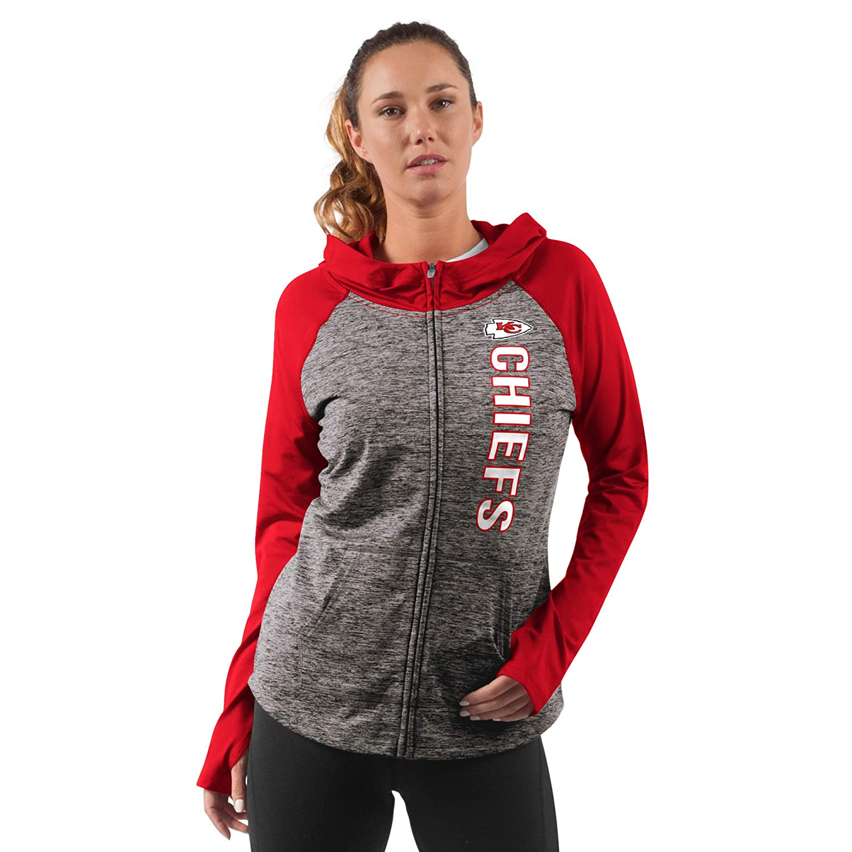 b70a6b62 G-III Sports Kansas City Chiefs Women's Long Sleeve Trophy Full Zip Hooded  Sweatshirt