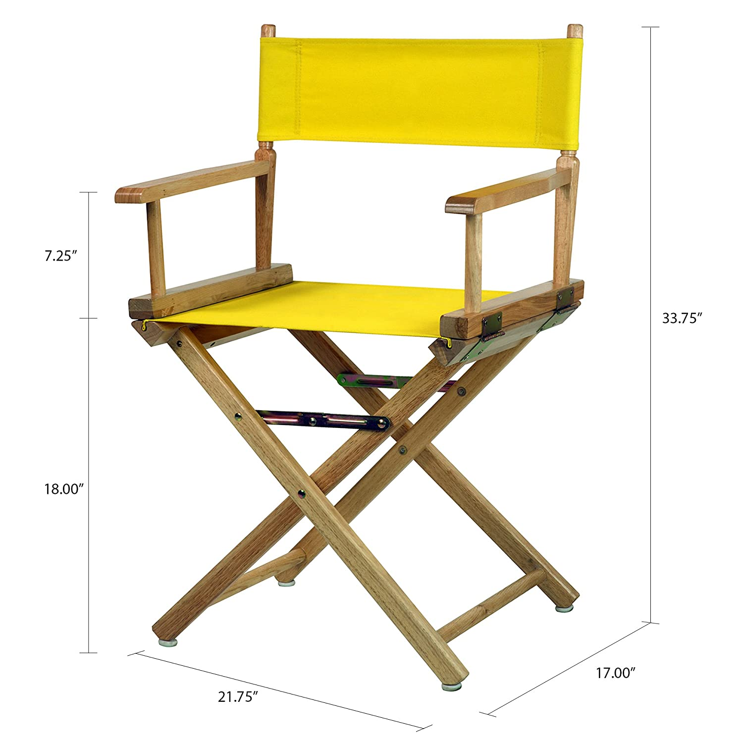 Casual Home 18 Directors Chair White Frame with White Canvas Yu Shan 200-01//021-29
