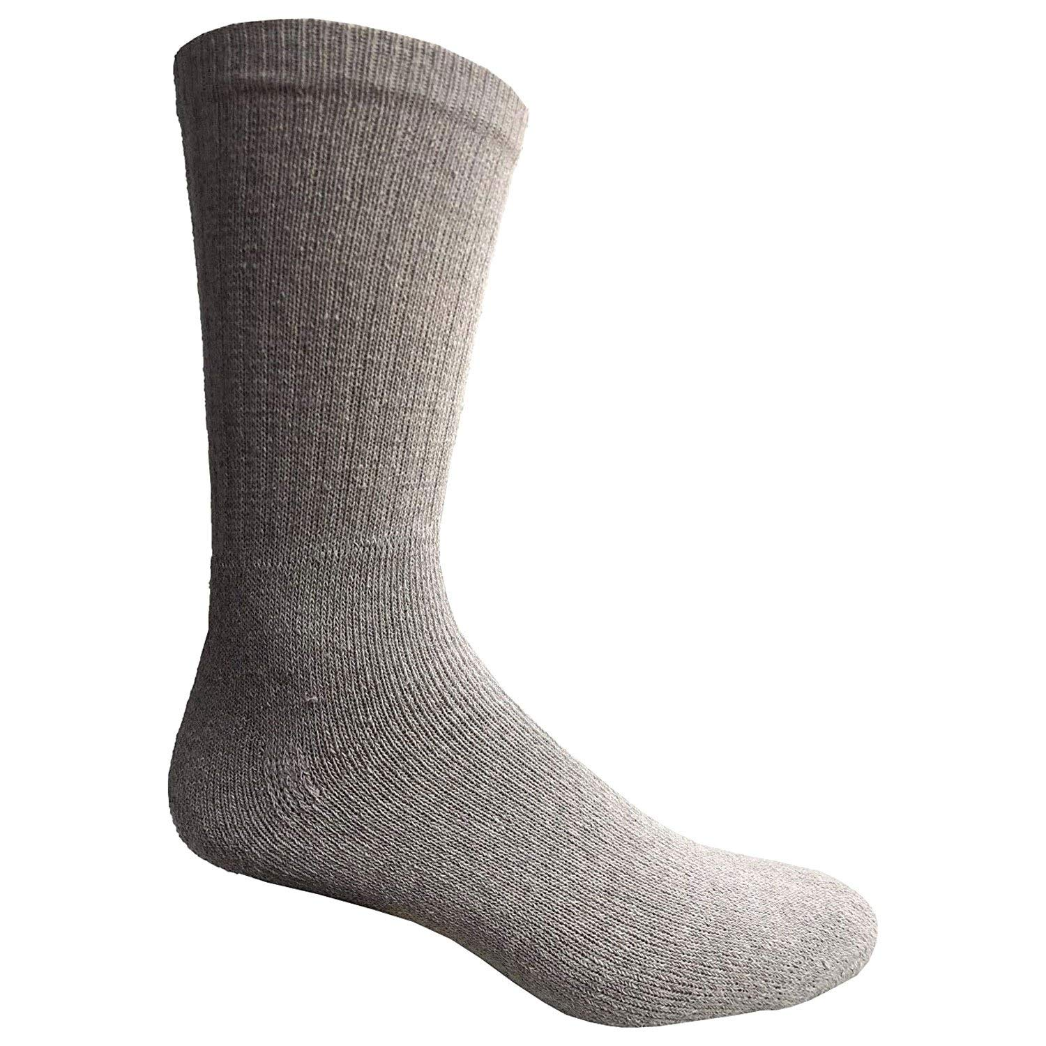 Men's King Size Cotton Crew Sock Plus Size Athletic Socks Men 13-16 Gray 120 pc by All Time Trading (Image #1)