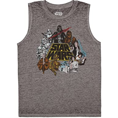 633cac9d5ac6e Fifth Sun Star Wars in Color Junior Muscle Tank Top - Grey (X-Small