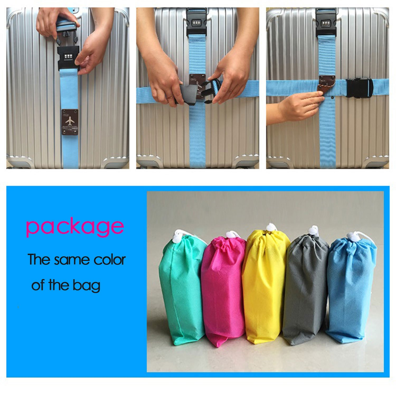 CHMETE Travel Suitcase Belts//Luggage Straps 2pcs-gray CHMETE-12458