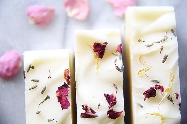 Lavender & Geranium Rose Hip Soap- All Natural, Vegan, Organic, 4.5 Ounces