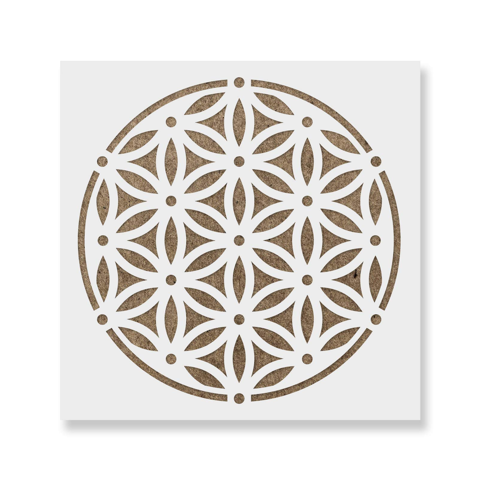 Sacred Flower of Life Stencil Template for Walls and Crafts - Reusable Stencils for Painting in Small & Large Sizes