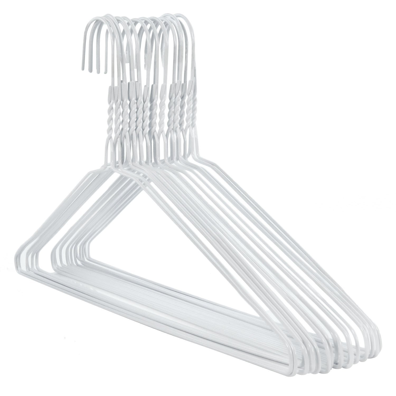 50 weiße Draht-Kleiderbügel – Drahtstärke ca. 2,3 mm Hangerworld ...