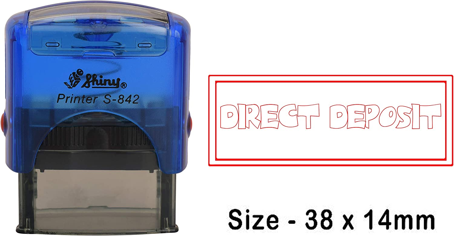 eloria Direct Deposit Self Inking Rubber Dater Stamp Business Custom Stamp Office Stationery