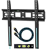 """Amazon Price History for:Cheetah Mounts APFMSB Flush 1"""" From Wall Flat Screen TV Wall Mount Bracket for 20-55"""" Plasma, LED, and LCD TVs Up To VESA 420x400 and 115 lbs. Includes a Twisted Veins 10' Braided HDMI Cable and 6"""" 3-Axis Magnetic Bubble Level"""