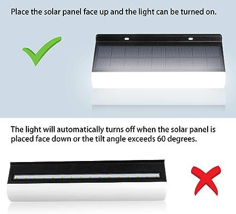 Lámpara de pared LED inalámbrica de control remoto CLY, temperatura de color ajustable, luz de energía solar 3000mAh IP67 lámpara de pared solar IP66 para decoración de jardín (2pcs): Amazon.es: Iluminación