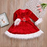 Clearance! Toddler Baby Girl Mrs. Claus Costume