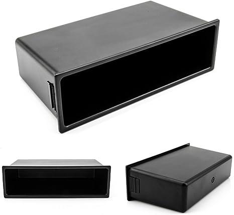 Filler pannello 1DIN slot di radio//sistema di navigazione con chiusura a scatto nero colore