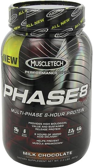Muscletech Serie Rendimiento Phase 8 Proteínas, Chocolate con ...