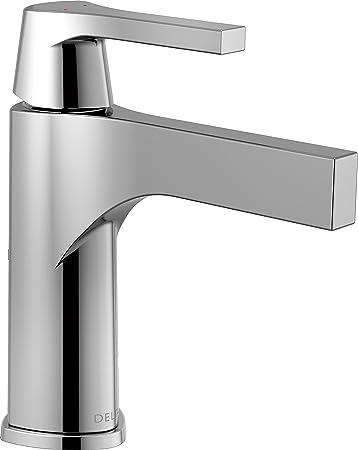 Delta Faucet Zura Single Hole Bathroom Faucet Single Handle Bathroom Faucet Chrome Bathroom Sink Faucet Diamond Seal Technology Drain Assembly Chrome 574 Mpu Dst