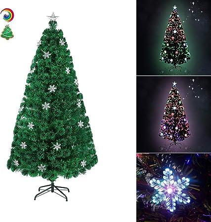 Sapin de Noël artificiel arbre de Noël 150 cm sapin pvc avec LED