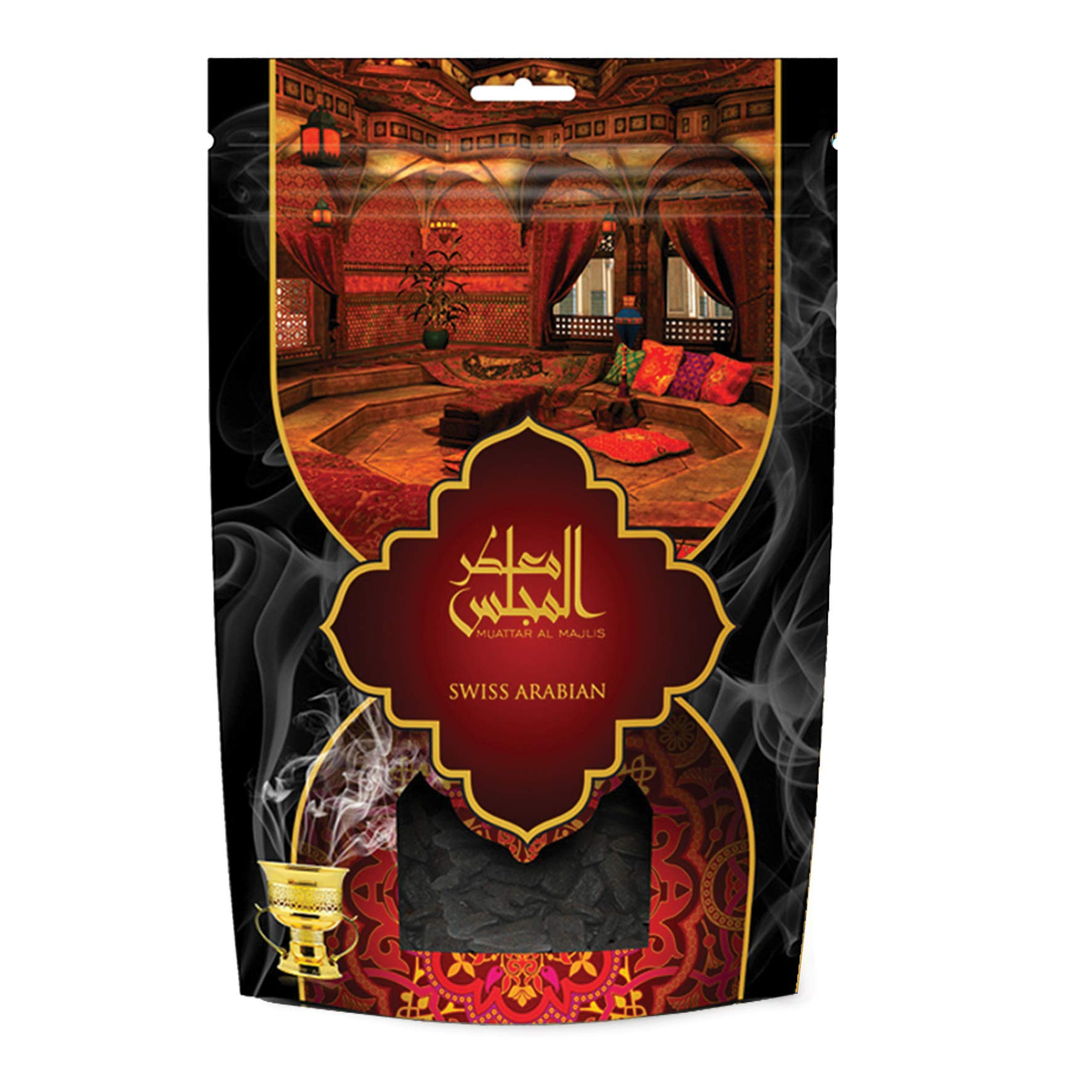 Muattar Al Majlis (250g/.55 lb) Oudh Wood Bakhoor Incense | Scented Exotic Arabic Bukhoor | Use with Traditional Middle Eastern Charcoal/Electric Burner | by Oud Perfume Artisan Swiss Arabian by SWISSARABIAN