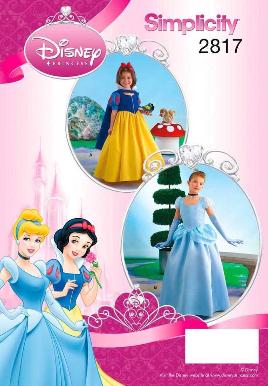 Simplicity 2817 - Patrones de costura para disfraces de niños (tallas 7, 8, 10, 12 y 14): Amazon.es: Hogar