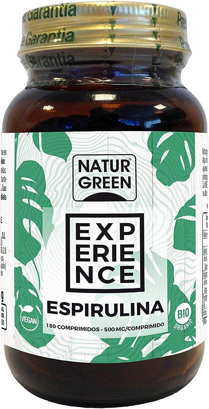 NaturGreen Espirulina Superalimento Bio - 180 comprimidos