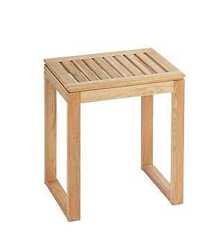 Wenko 20351100 Badhocker Norway - Wohnhocker, massives Holz ... | {Badhocker design holz 69}