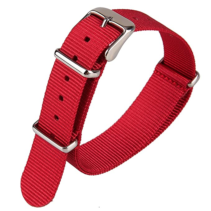 1 opinioni per Tessuto in Nylon rosso in tessuto in Nylon per orologio da polso da uomo,