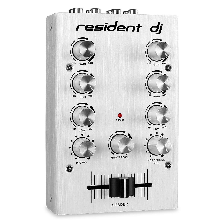 Resident DJ pikknikk silver Mezclador DJ 2 canales plateado ...