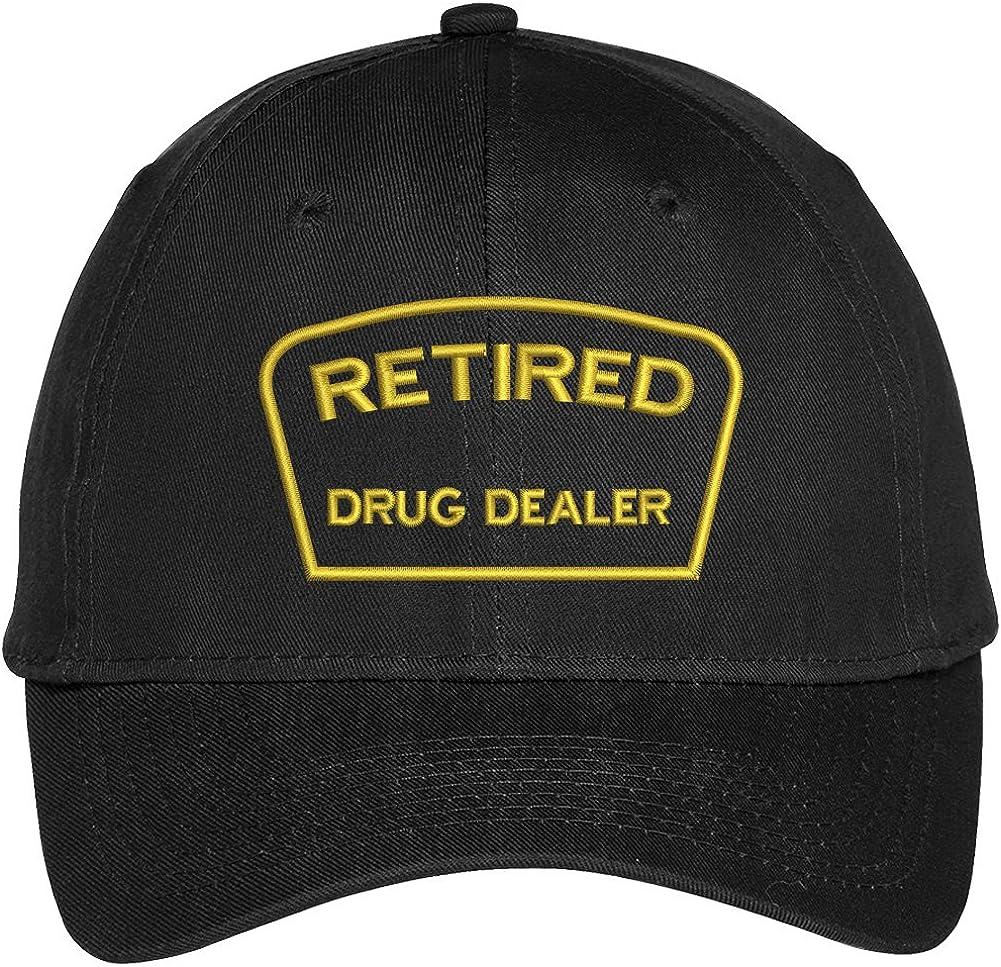 Trendy Apparel Shop Retired Drug Dealer Embroidered Adjustable Snapback Baseball Cap