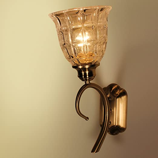 Antique Portuguese Crystal Shaped Plug In Wall Sconcewall Lamp