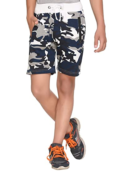 Harbor N Bay Boys Cotton Camaou/Army Print Short Men's Shorts at amazon