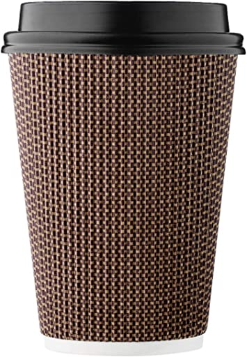 100 X 16oz Cafe Mocha Paper Cup Coffee Tea Disposable hot drinks single wall