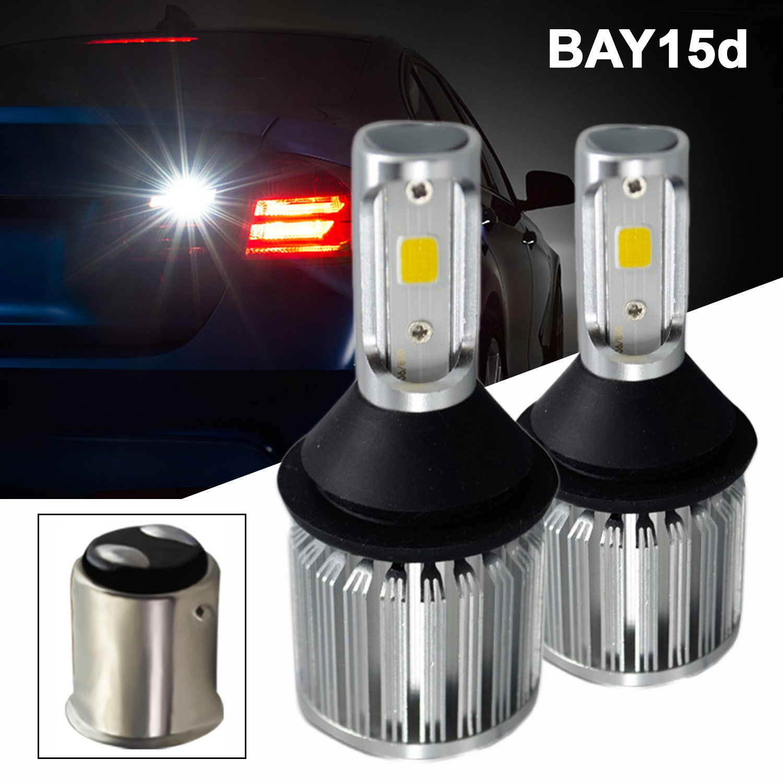6000K Xenon White SOCAL-LED 2x T25 3157 LED Bulb COB 30W 3000LM Extremely Bright Reverse Light Back Up Bulbs 12V-24V