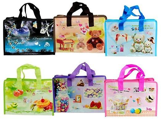 Lote de 30 Bolsas de Loneta Infantiles con Dibujos. 29 x 20 ...