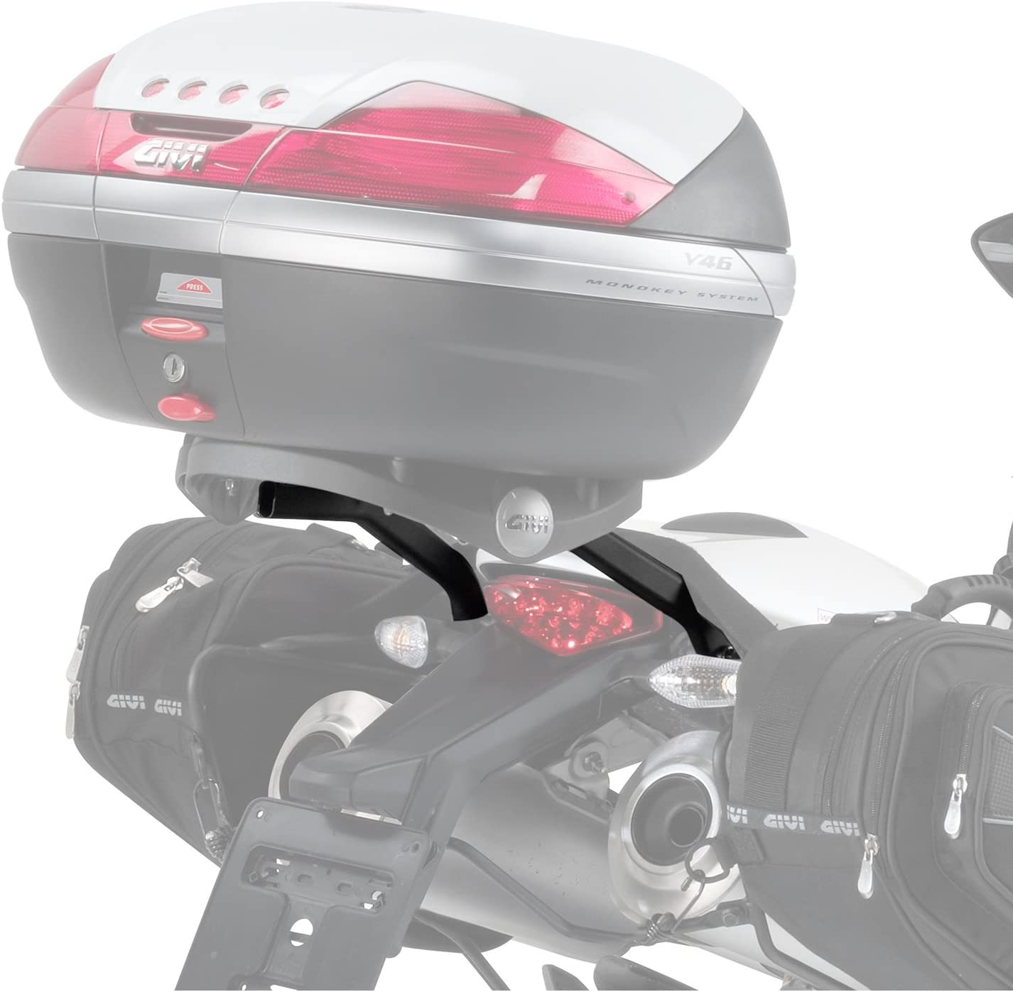 Givi 780FZ+M5 Monorack Arme f/ür Topcase Montage Schwarz 40