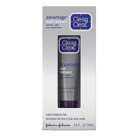 Amazon Com Clean Clear Advantage Acne Mark Treatment With Glycolic Acid Salicylic Acid Acne Medicine Topical Pimple Treatment For Post Acne Marks 0 5 Fl Oz Pack Of 1 Facial