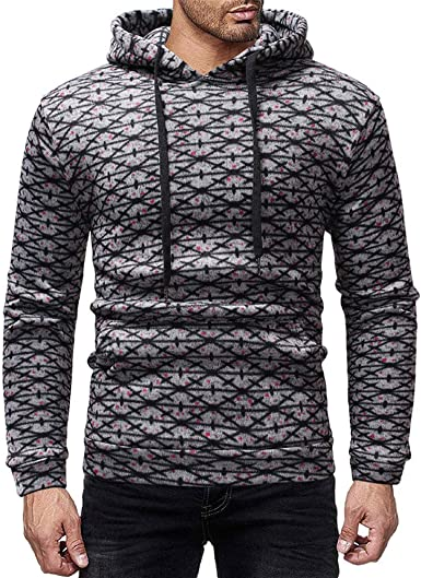 Lmtime 2018 Mens Ethnic Sweatshirt Drawstring Sportshirt Long Sleeve Pullover Hoodies