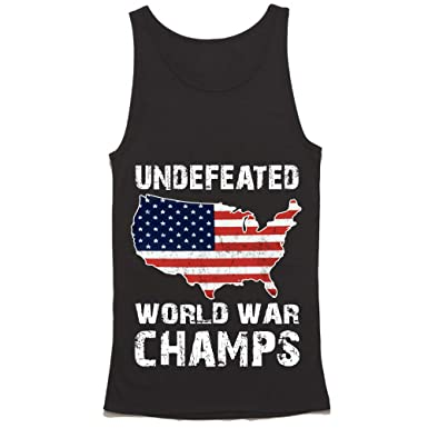 a5008fe0 Undefeated Back to Back World War Champs Tank Top - American Patriotic USA  ShirtBlack Small Tank