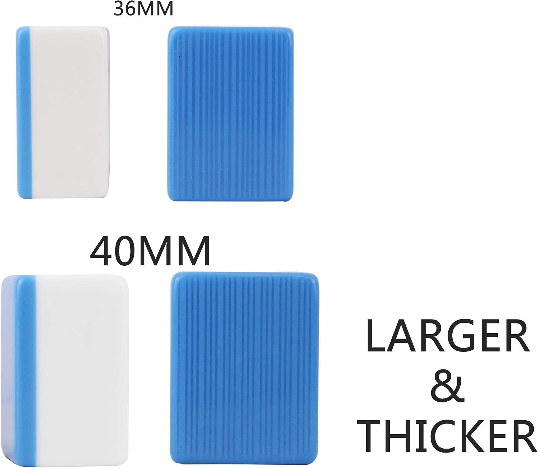 X-Large 广东大麻将 Chinese Guangdong Tiles Mahjong Set 144 Tiles 1.5 x 1.2 x 0.9 Inch