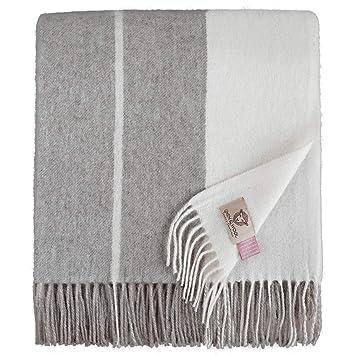 Linen & Cotton Plaid, Couverture en Laine,