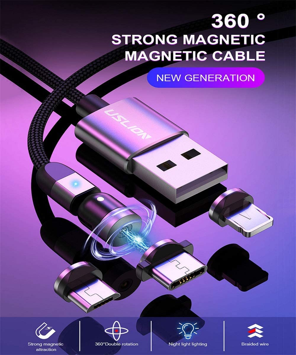 KGIDK 3 in 1 Magnetic Data Cable