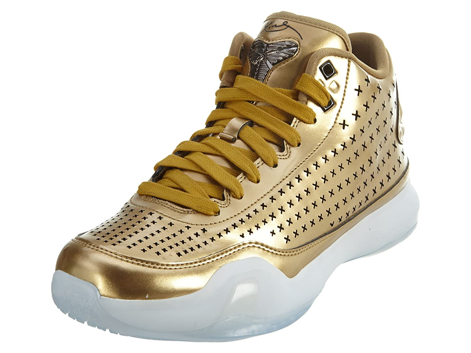 Nike Men s Kobe X Mid EXT, METALLIC GOLD METALLIC GOLD-BLACK, 9.5 M US