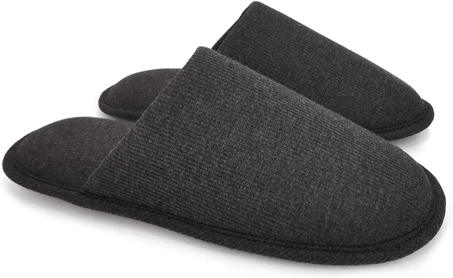 ofoot Mens Indoor Slippers Memory Foam Teddy Wool-Like Fluffy Fuzzy Soft Cozy Warm Winter Non Slip Bedroom House Shoes