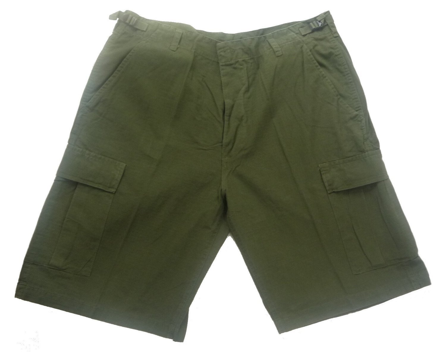 Mens Designer Fashion Army Military Cargo Walk Shorts Pants Prewash Olive Gre... Mil-Tec 11402001-005