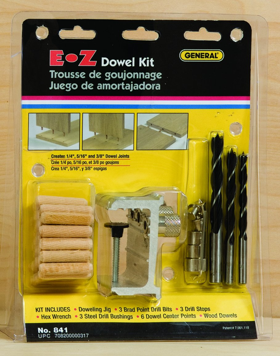 General Tools 841 E Z Pro Doweling Jig Kit Brad Nails Amazoncom