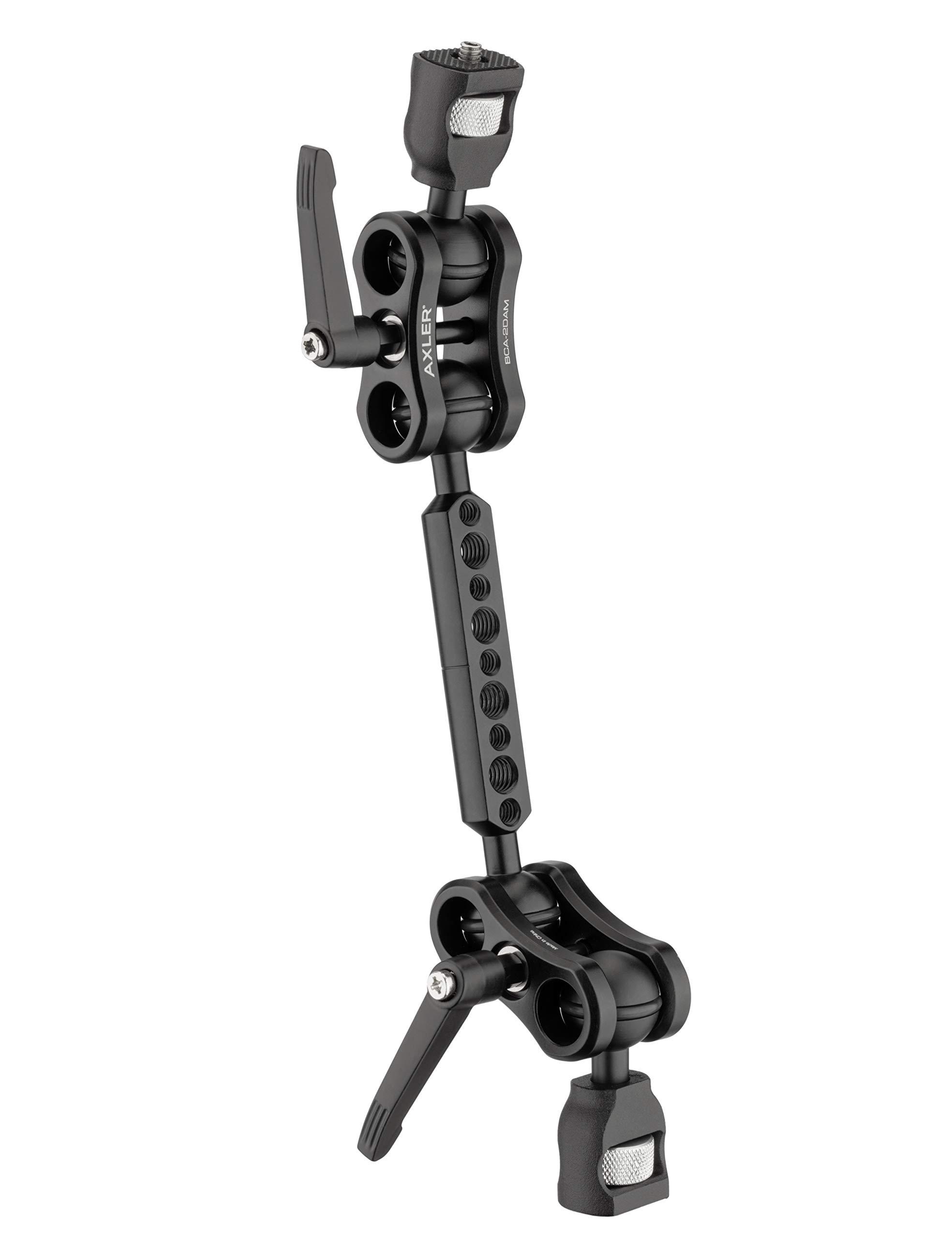 Axler 12'' Dual Mega Ball Clamp Arm with 1/4''-20 and 3/8''-16 ARRI Accessory Mount by Axler
