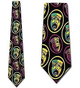 Corbata Para Hombre Corbata,Corbatas De Comedia Tragedia Corbatas ...