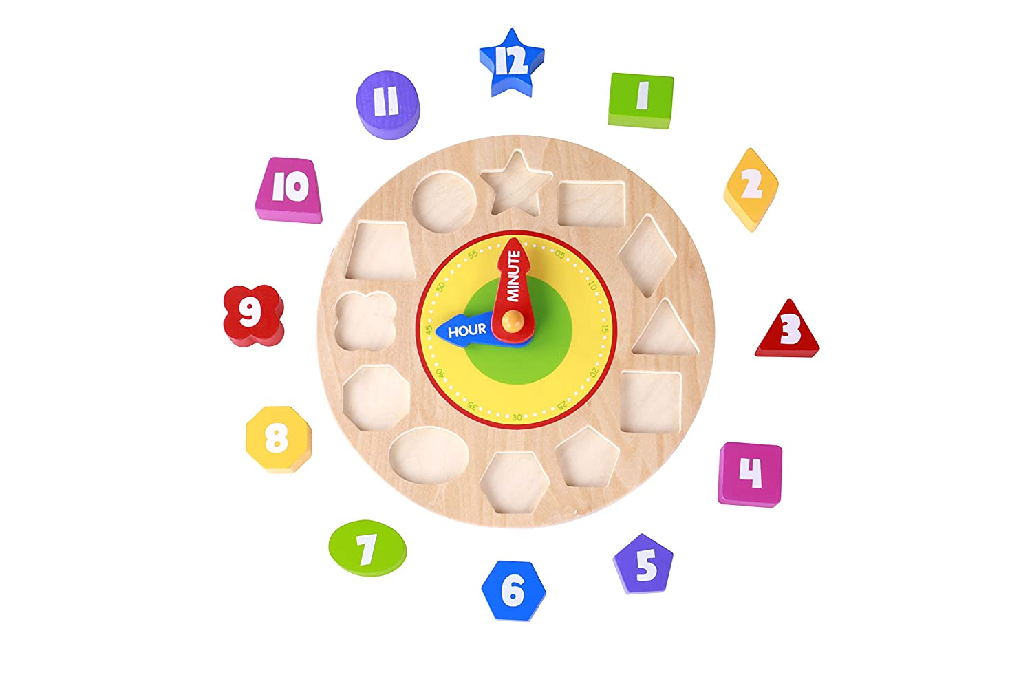 Tooky Toys Wooden Calendar Educational Toy with Activity Blocks for Toddler to Teach Years /& Seasons /& Months /& Days /& Weather