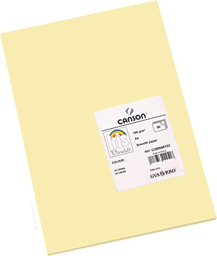 Oferta amazon: Canson Iris - Cartulina, 50 Unidades, Color Crema