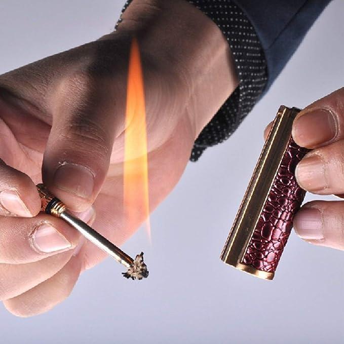 Kraftstoff Nicht enthalten Parayung Dragon Breath Lighter Wasserdichtes Metall Match Flint Feuerzeug Schl/üsselbund Feuerstarter f/ür Camping Emergency Surviva