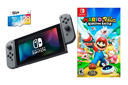 Amazon Com Nintendo Switch Mario Rabbids Kingdom Battle Bundle