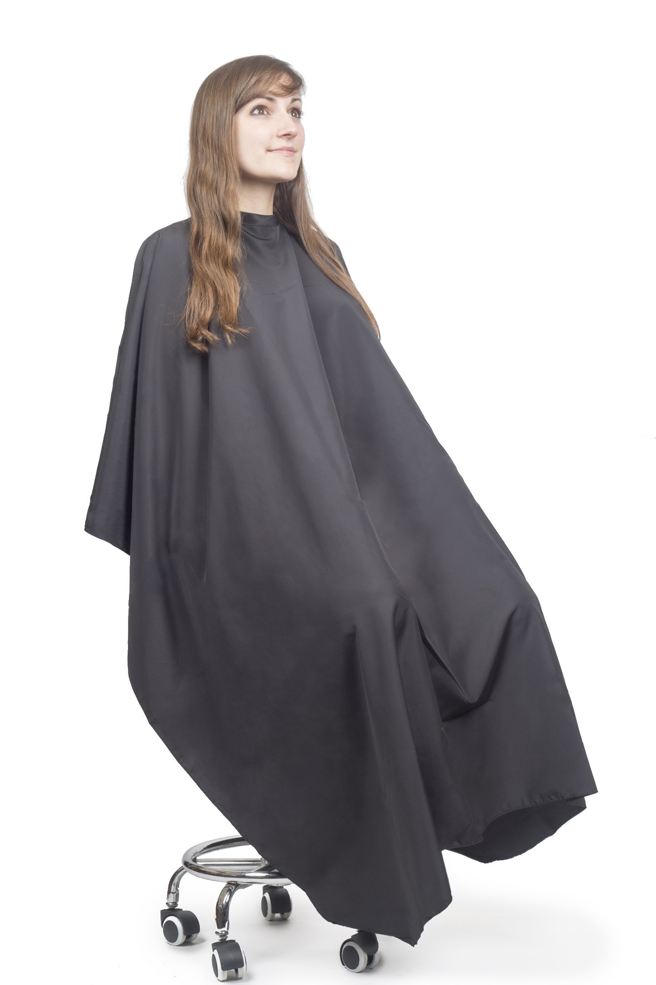 Hair Cutting Cape for Adults - Lightweight Water Resistant Salon Cape - Snap Closure - 60in x 57.5in - Haircut Cape - Hair Cape - Barber Cape for Men - Barber Capes by Salon Supply Co