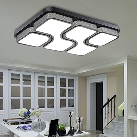 ETiME 65x43cm Design LED Deckenlampe Deckenleuchte Wohnzimmer ...