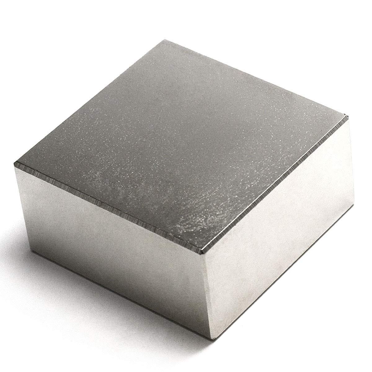 Neodymium Magnets N50 2'' x 2'' x 1'' NdFeB Rare Earth Rectangular Magnet 1-Count