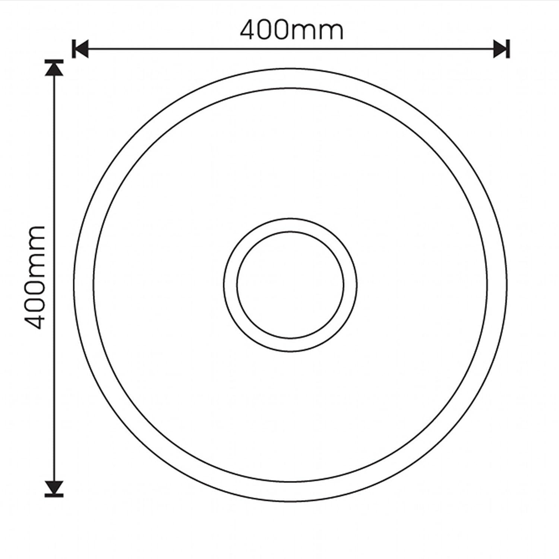 ENKI /Évier /à poser 1 bac rond avec trop-plein acier inoxydable